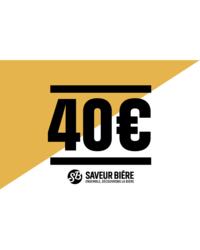 Cartes cadeaux - E-carte cadeau 40 euros