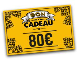 Chèque cadeaux - Tarjeta de regalo de 80 euros