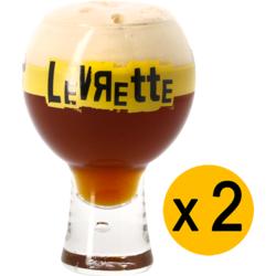 Beer glasses - 2 Levrette 30cl glasses