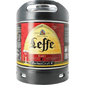 Leffe Ruby PerfectDraft 6-liter Fass