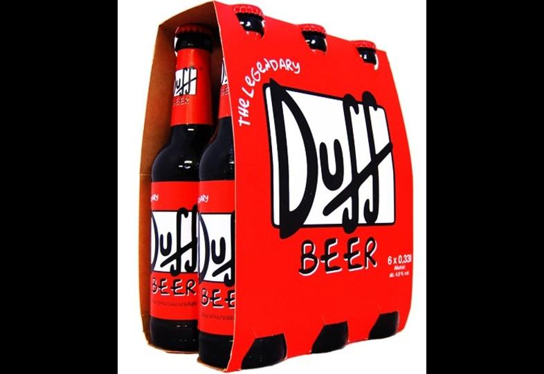 Bonnes Affaires - Bière & verre - Pack de 6 Duff Beer