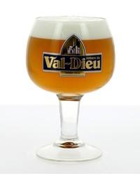 Verres à bière - Verre Val Dieu logo bleu - 25cl