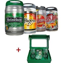 Heineken Cup - 4 fûts + coffret Rugby Beertender offert