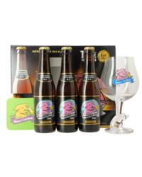Accessoires et cadeaux - Coffret Rince Cochon Bleu (3 bières 1 verre)