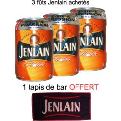 Brasserie Jenlain - 3 Fûts 5L Jenlain Ambrée + tapis bar
