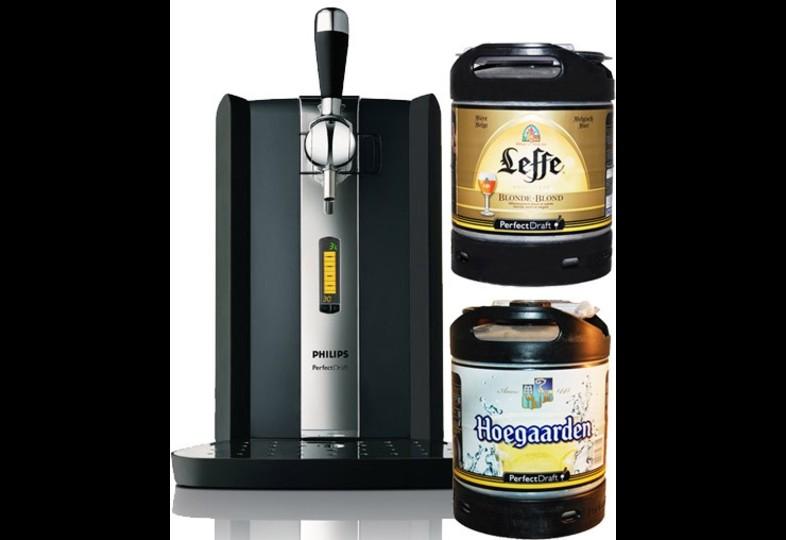 Accessoires et cadeaux - Perfectdraft et 2 fûts Leffe + Hoegaarden