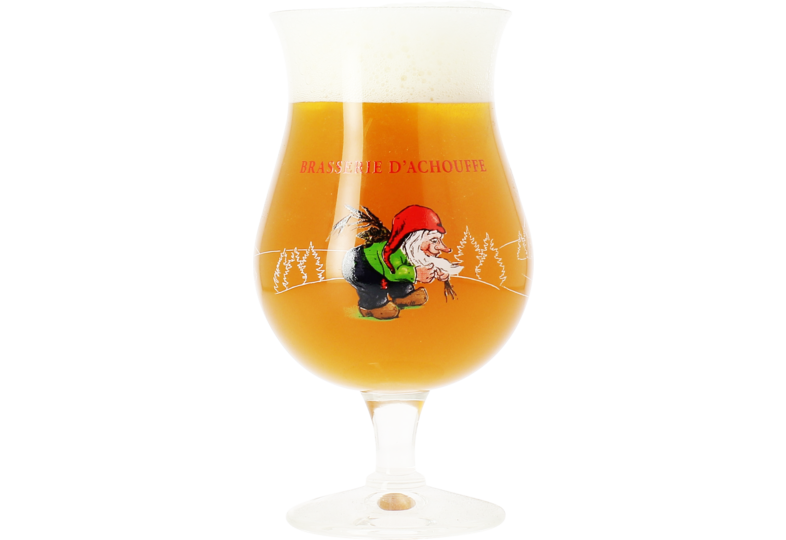 Beer glasses - Brasserie Achouffe 33cl glass