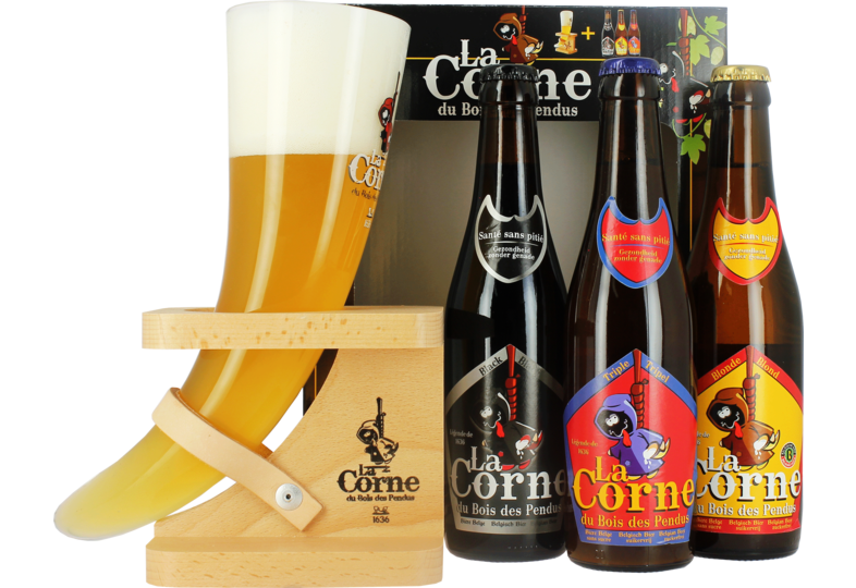 Coffrets cadeaux verre et bière - Confezione La Corne du Bois des Pendus