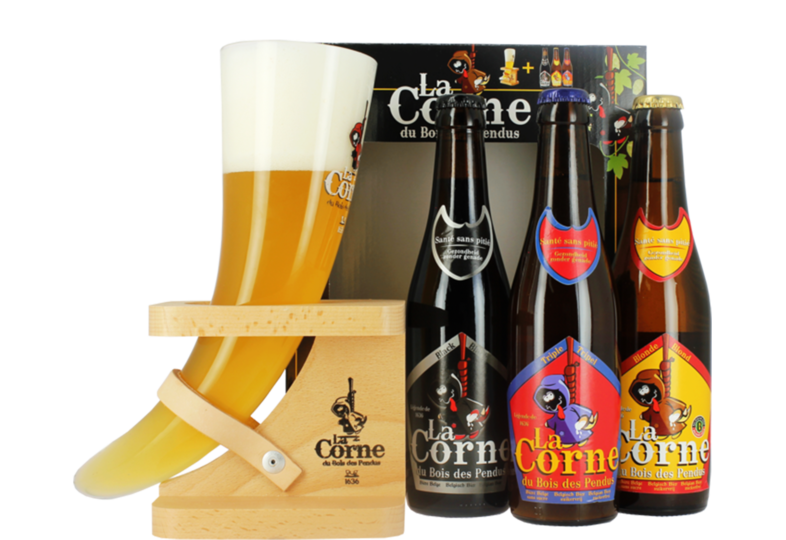 Gift box with beer and glass - La Corne du Bois des Pendus Gift Pack