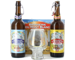 Gift box with beer and glass - Mont Blanc Gift Pack