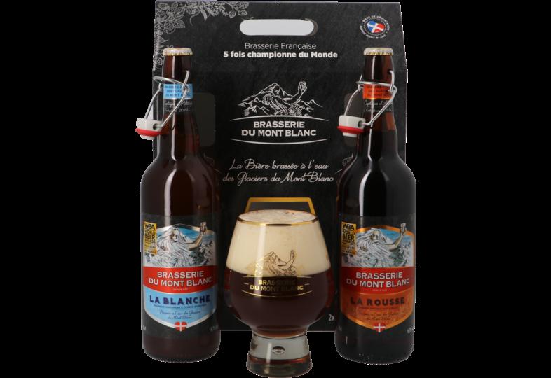Biergeschenk mit Glas - Geschenkpackung Mont Blanc