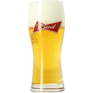 Budweiser Bud 33cl glass