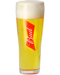 Beer glasses - Budweiser Bud 33cl glass