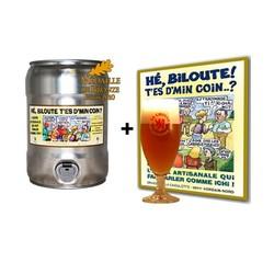 Fûts de bière - 1 Fût Hé Biloute SPI + 1 verre + 1 affiche