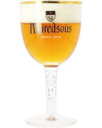 Bierglazen -  Maredsous-kelkglas met smalle voet van 25 cl