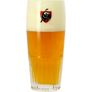 Bicchiere Jupiler a coste - Logo rosso - 33 cl