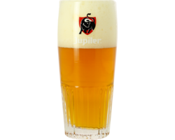 Bicchiere - Bicchiere Jupiler a coste - 25cl   (rosso Logo)