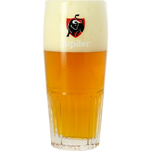 Jupiler 25cl ribbed glass with Red logo