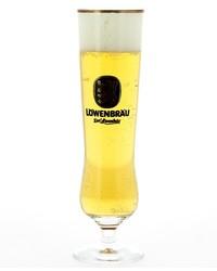 Beer glasses - glass Lowenbräu Flûte Noir
