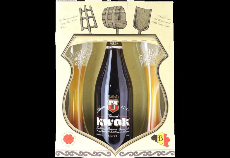 Accessori e regali - Confezione Regalo Kwak 1*75cl + 2 bicchieri a fondo piatto