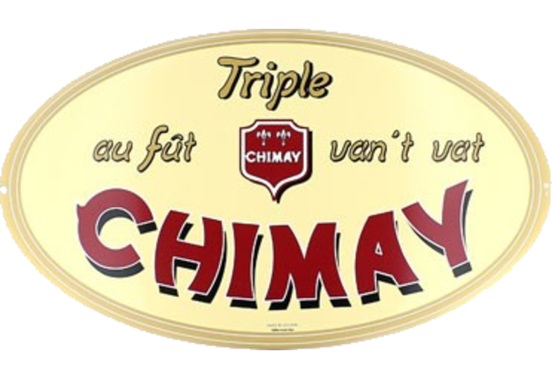Enamel advertising signs - plate Chimay Triple