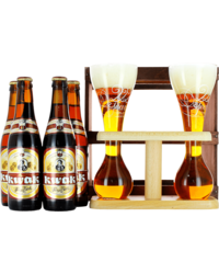 Gift box with beer and glass - Gift pack Kwak 4 flessen en twee glazen