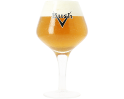 Beer glasses - Bush crackle-finish glass with black logo - 33 cl