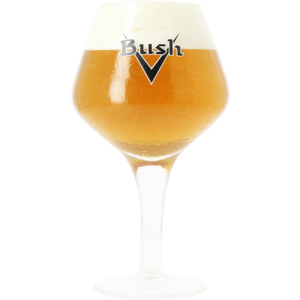 Bush-Vintage-Glas mit schwarzem Logo - 33 cl