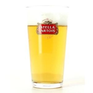 glass Stella Artois à fond plat