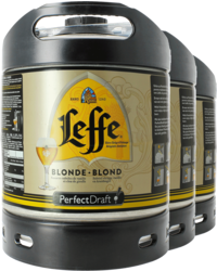 Kegs - Leffe Blonde PerfectDraft 6-litre Keg - 3-Pack