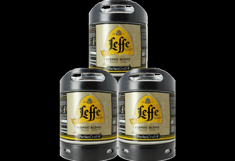 Kegs - Leffe Blonde PerfectDraft 6-litre Keg - 3-Pack