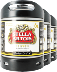 Barriles - Stella Artois PerfectDraft 6-litre Barril - 3-pack
