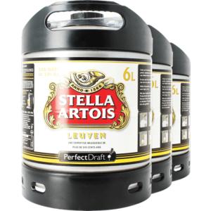 Stella Artois PerfectDraft 6-litre Barril - 3-pack