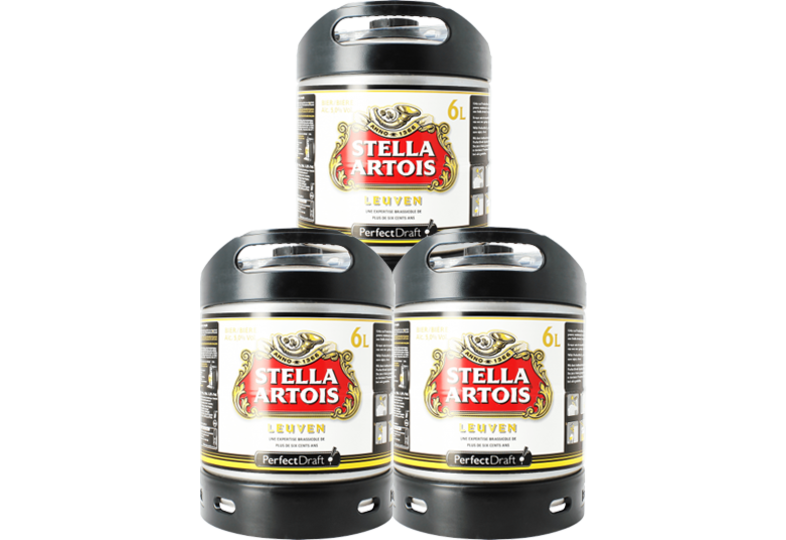 Bier Tapvatjes - Stella Artois PerfectDraft Vat 6L - 3-Pack
