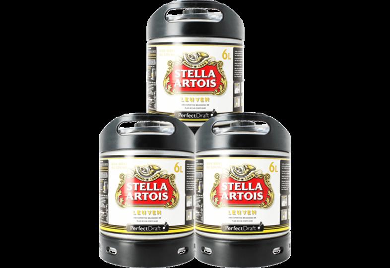 Fûts de bière - Pack 3 fûts 6L Stella Artois