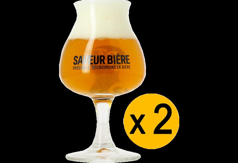 Verres à bière - Pack 2 Verres Dégustation Saveur Bière - 15 cl