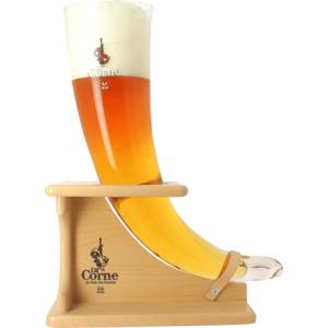 Bicchiere da collezione La Corne du Bois Des Pendus + Base in legno - 3 L