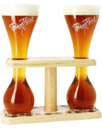 Biergläser - 2 Kwak-Gläser mit Ständern - 33 cl