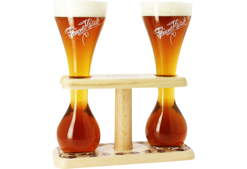 Beer glasses - 2 Kwak glasses with base - 33 cl