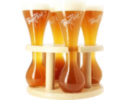Verres à bière - 4 verres Kwak avec support - 33 cl