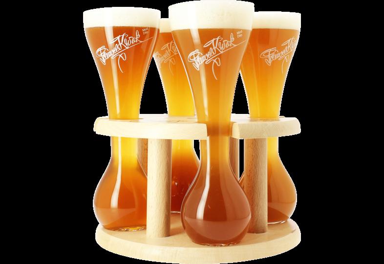 Bicchiere - Kwak Quattro Bicchieri da birra - con base in legno