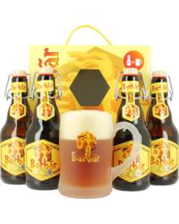 Pack regalo con cerveza y vasos - Regalo Gift Pack - 4 Cervezas + 1 Jarra