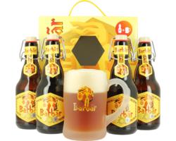 Gåvoboxar med öl och glas - Coffret Barbar (4 bières, 1 verre)