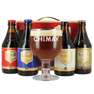 Confezione Regalo Chimay Quadrilogie (4 birre, 1 bicchiere)