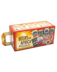 Gift box with beer and glass - Beers For Africa Gift Pack