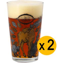 Beer glasses - Pack 2 Verres La Débauche