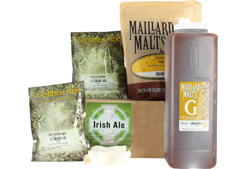 Kit de bière tout grain - Irish Red Ale Extract Kit with Speciality Grains