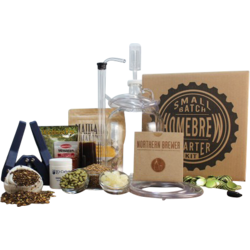 Brewing kits - 1 Gallon Caribou Slobber Brown Small Batch Beer Brewing Kit