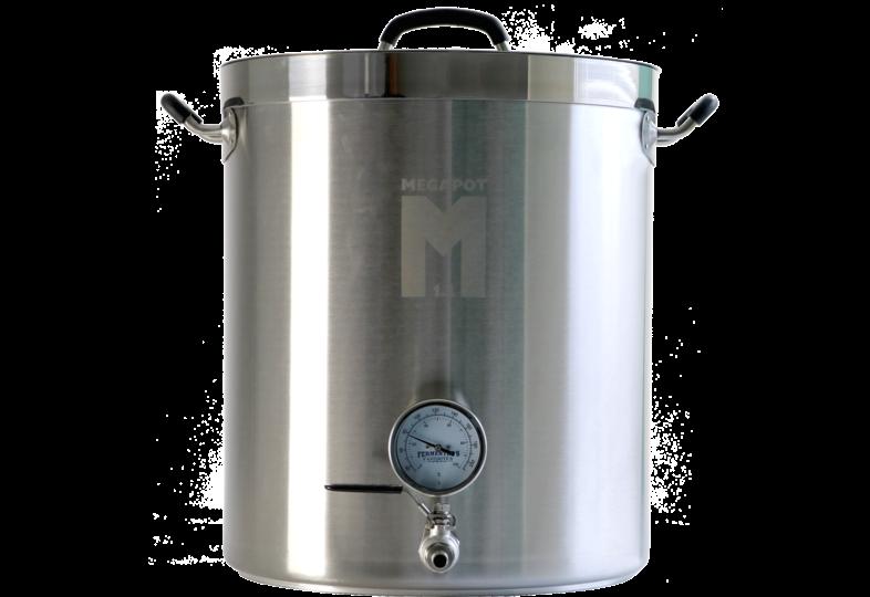 Brouwgereedschap - MegaPot 1.2™ brouwketel van 30 liter met kogelkraan en thermometer