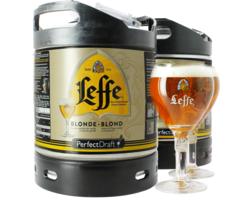 Fûts de bière - Pack 2 Fûts 6L Leffe blonde avec 2 verres